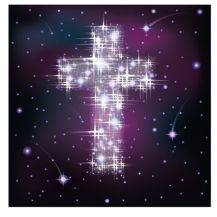 17836517 - starry cross, vector illustration